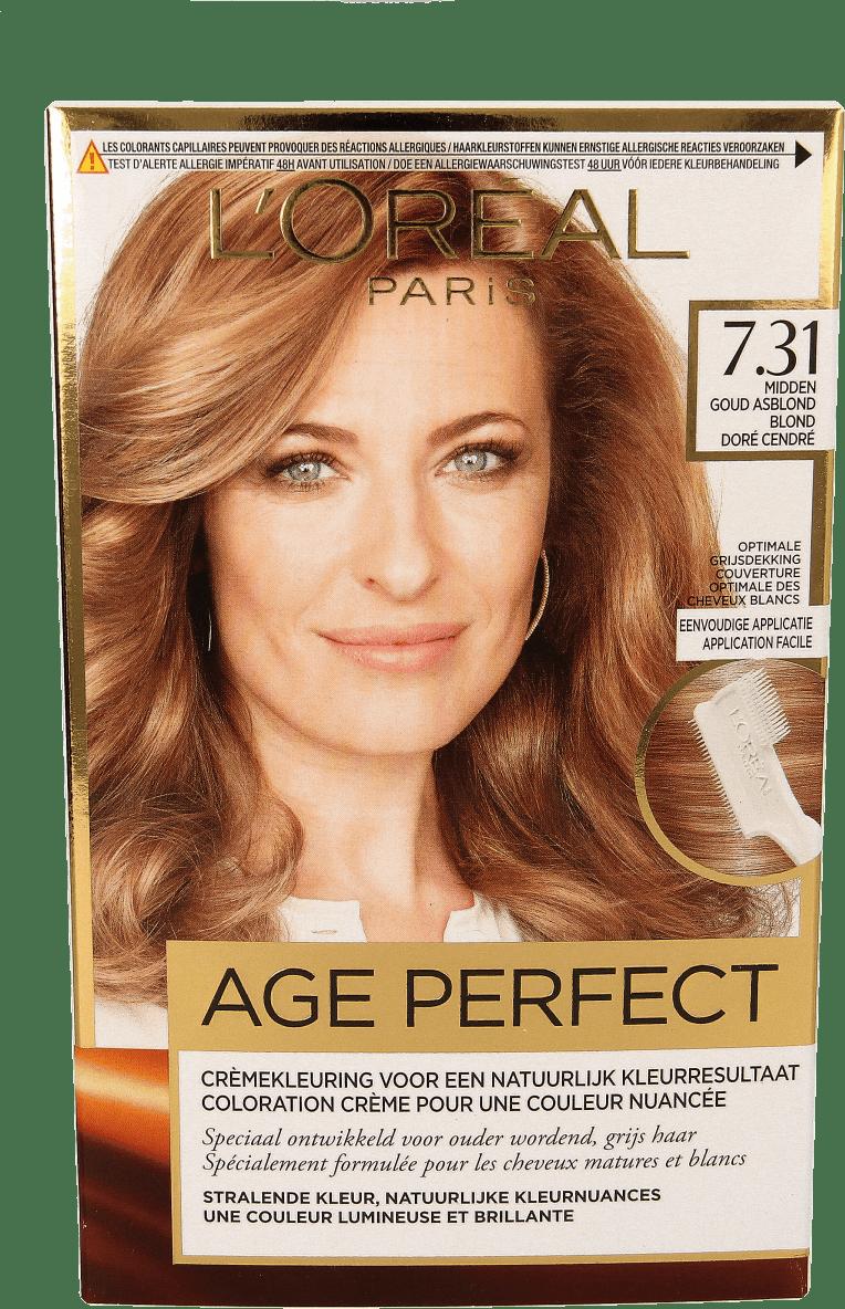 b6f6a68f1ae L'Oréal Exc. Age Perfect 7.31 Midden Goud-asblond - D.I.O.
