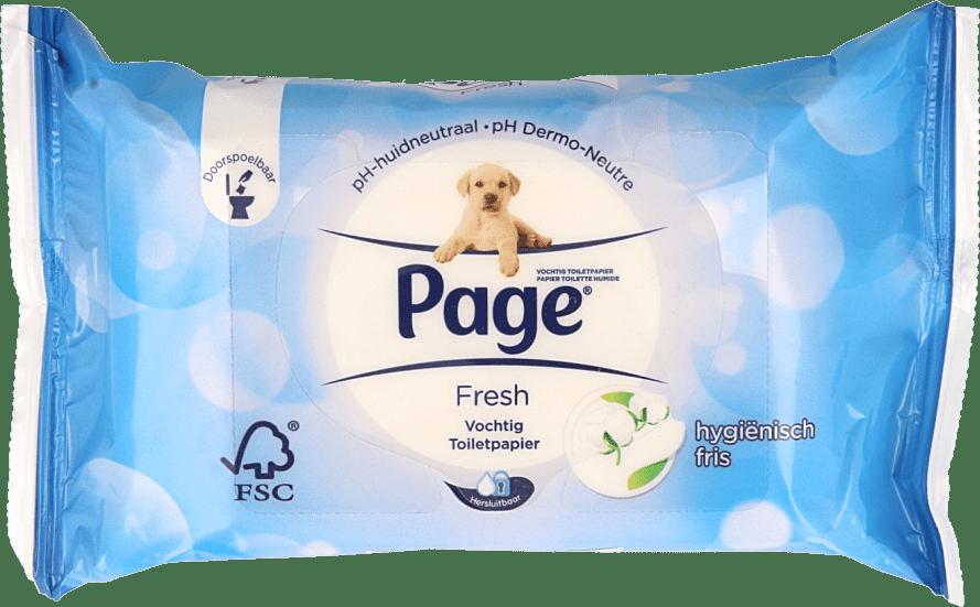 Page Vochtig Toiletpapier.Page Vochtig Toiletpapier Fresh Navulling