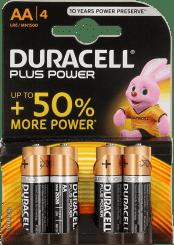 Duracell Plus Power Batterijen AA